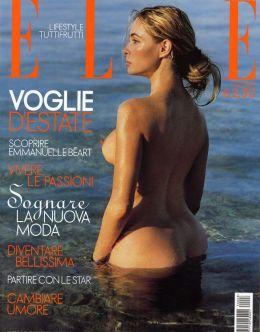Обнаженная Эммануэль Беар из журнала Elle
