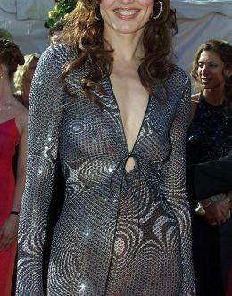 Засветы Джины Дэвис в полупрозрачном платье