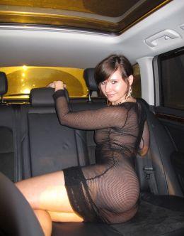 Ню фото Дженни Смит в платье и колготках