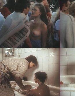 Засветы груди Анны Назарьевой в х/ф «Танцплощадка» (1986)