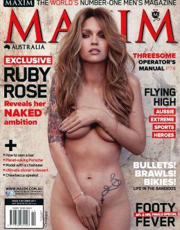 Горячие фото с обнаженной Руби Роуз из «Максим» (октябрь, 2011)