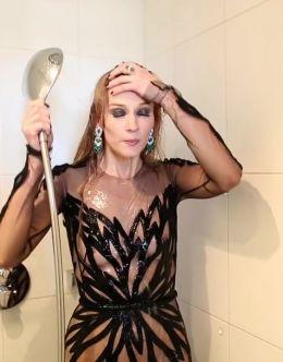 Ходченкова засветила грудь на фотосессии для Glamour