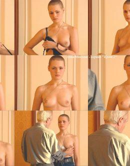 Обнаженная грудь Анны Миклош в сериале «Крот-2» (2002)